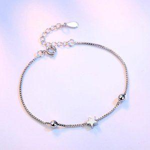 NEW 925 Sterling Silver Simple Star Bracelet
